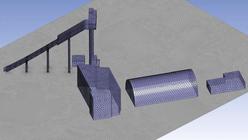 Рис. 2. Общий вид модели трамплина в расчетном комплексе OpenFoam