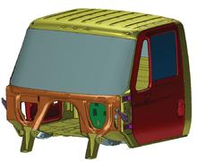 Рис. 4. Модель кабины магистрального тягача Navistar Heavy Duty Truck