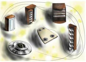 Проект книжного шкафа: скетчи и эскизы в Autodesk SketchBook Designer
