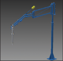 Устройство налива в автомобильные цистерны: конструкция в Autodesk Inventor