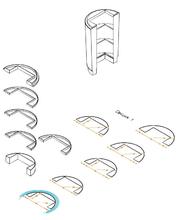 Деталировка элемента обшивки - полусекции