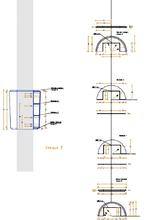 Размещение детали обшивки на колонне(монтажная схема)