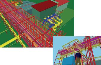 Рис. 2. Фрагмент трехмерной модели, выполненной средствами Model Studio CS в институте ВНИПИгаздобыча