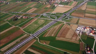 Визуализация развязки Ново-Место – восток и фрагмента магистрали A2
