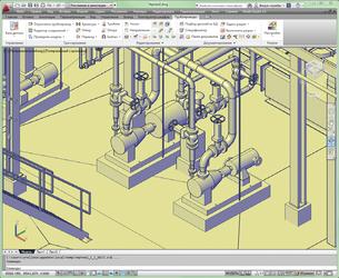 Рис. 5. Увеличенный фрагмент исходной модели с насосами в Model Studio CS