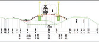 Поперечный профиль железной дороги