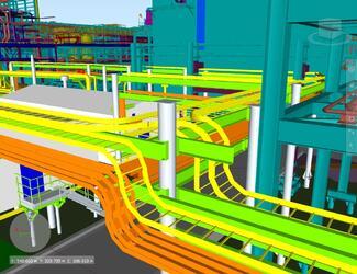 Кабельные конструкции, выполненные средствами Model Studio CS Кабельное хозяйство (Харьягинское месторождение)